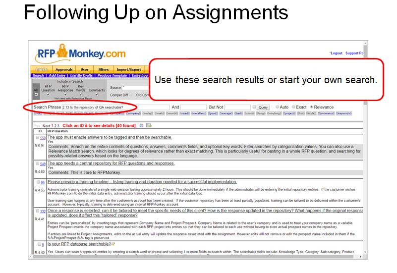 Assignment Follow Up
